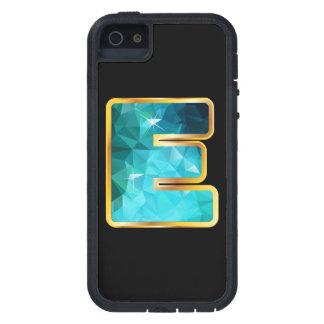 """Niedrig-Polyaquamarines Wasser E """"im Gold"""" Kanal Etui Fürs iPhone 5"""