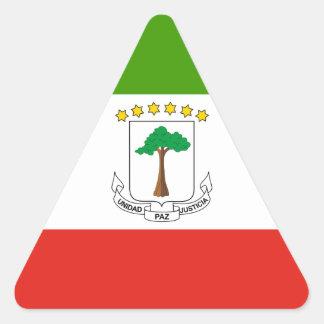 Niedrige Kosten! Äquatoriale Guinea-Flagge Dreieckiger Aufkleber
