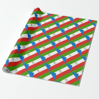 Niedrige Kosten! Äquatoriale Guinea-Flagge Geschenkpapier