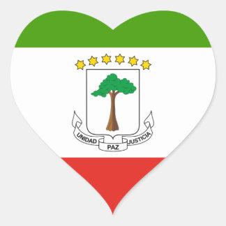 Niedrige Kosten! Äquatoriale Guinea-Flagge Herz-Aufkleber