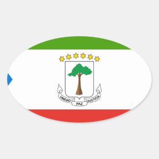 Niedrige Kosten! Äquatoriale Guinea-Flagge Ovaler Aufkleber