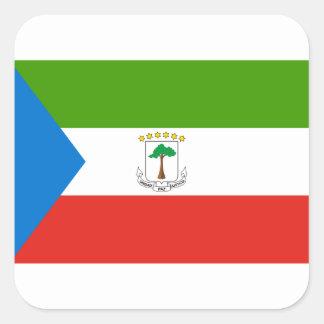 Niedrige Kosten! Äquatoriale Guinea-Flagge Quadratischer Aufkleber