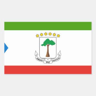 Niedrige Kosten! Äquatoriale Guinea-Flagge Rechteckiger Aufkleber