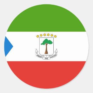 Niedrige Kosten! Äquatoriale Guinea-Flagge Runder Aufkleber