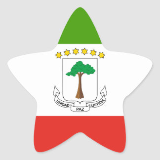 Niedrige Kosten! Äquatoriale Guinea-Flagge Stern-Aufkleber