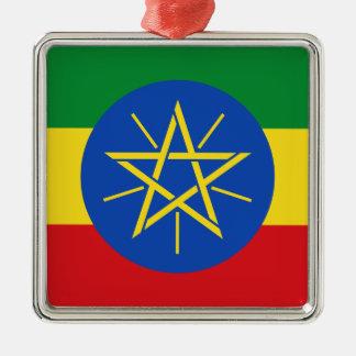 Niedrige Kosten! Äthiopien-Flagge Silbernes Ornament