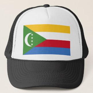 Niedrige Kosten! Comoren-Flagge Truckerkappe