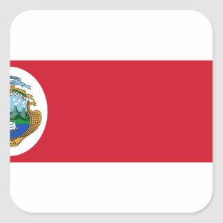 Niedrige Kosten! Costa Rica-Flagge Quadratischer Aufkleber