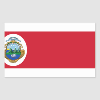 Niedrige Kosten! Costa Rica-Flagge Rechteckiger Aufkleber