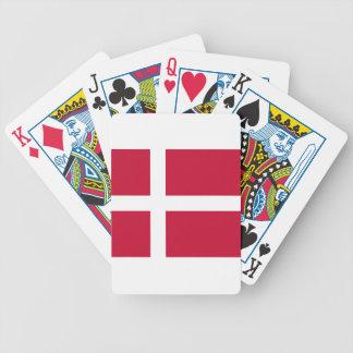 Niedrige Kosten! Dänemark-Flagge Bicycle Spielkarten
