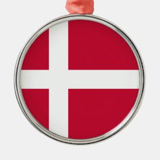 Niedrige Kosten! Dänemark-Flagge Silbernes Ornament