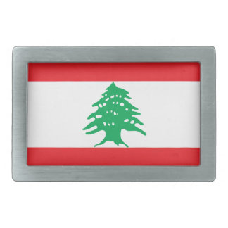Niedrige Kosten! Der Libanon-Flagge Rechteckige Gürtelschnalle