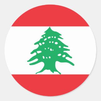 Niedrige Kosten! Der Libanon-Flagge Runder Aufkleber