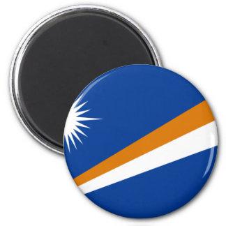 Niedrige Kosten! Die Marshallinseln-Flagge Runder Magnet 5,1 Cm