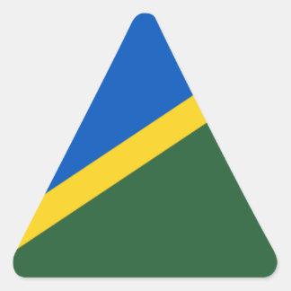 Niedrige Kosten! Die Salomonen-Flagge Dreieckiger Aufkleber