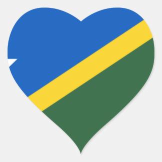 Niedrige Kosten! Die Salomonen-Flagge Herz-Aufkleber