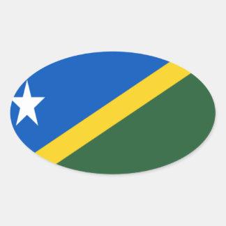 Niedrige Kosten! Die Salomonen-Flagge Ovaler Aufkleber