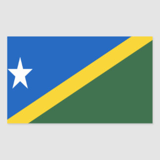 Niedrige Kosten! Die Salomonen-Flagge Rechteckiger Aufkleber