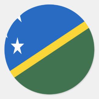 Niedrige Kosten! Die Salomonen-Flagge Runder Aufkleber