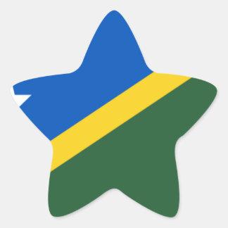 Niedrige Kosten! Die Salomonen-Flagge Stern-Aufkleber