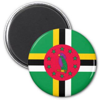 Niedrige Kosten! Dominica-Flagge Runder Magnet 5,7 Cm