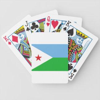 Niedrige Kosten! Dschibuti-Flagge Bicycle Spielkarten
