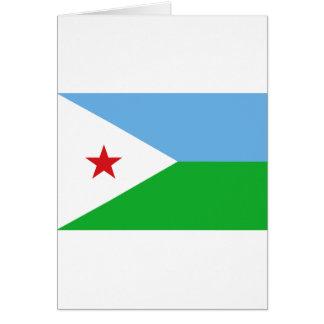 Niedrige Kosten! Dschibuti-Flagge Karte