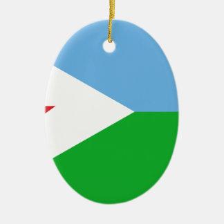 Niedrige Kosten! Dschibuti-Flagge Keramik Ornament