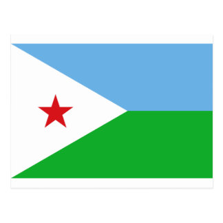 Niedrige Kosten! Dschibuti-Flagge Postkarte