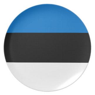 Niedrige Kosten! Estland-Flagge Melaminteller