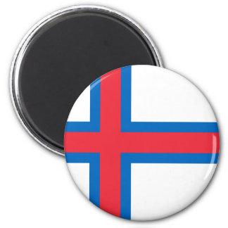 Niedrige Kosten! Färöer-Flagge Runder Magnet 5,1 Cm
