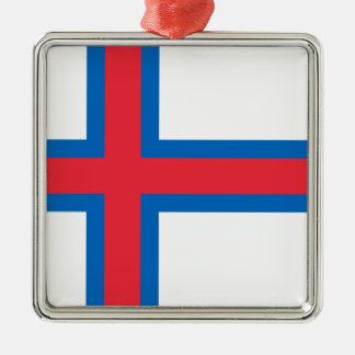 Niedrige Kosten! Färöer-Flagge Silbernes Ornament
