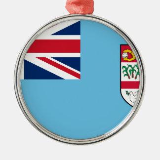 Niedrige Kosten! Fidschi-Flagge Silbernes Ornament