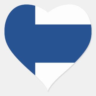 Niedrige Kosten! Finnland-Flagge Herz-Aufkleber