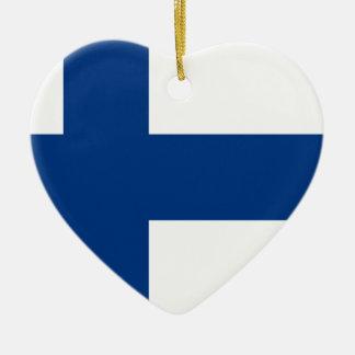 Niedrige Kosten! Finnland-Flagge Keramik Ornament