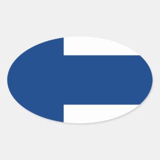 Niedrige Kosten! Finnland-Flagge Ovaler Aufkleber