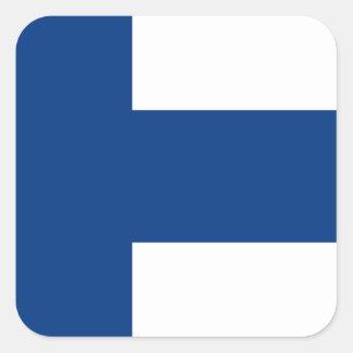 Niedrige Kosten! Finnland-Flagge Quadratischer Aufkleber