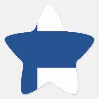 Niedrige Kosten! Finnland-Flagge Stern-Aufkleber