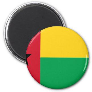 Niedrige Kosten! Guinea-Bissau Flagge Runder Magnet 5,7 Cm