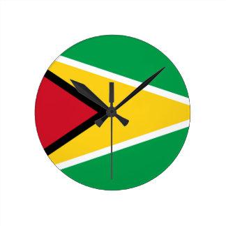 Niedrige Kosten! Guyana-Flagge Runde Wanduhr