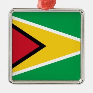 Niedrige Kosten! Guyana-Flagge Silbernes Ornament