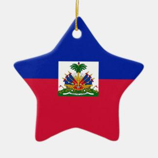 Niedrige Kosten! Haiti-Flagge Keramik Ornament