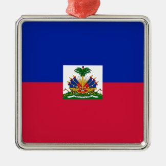 Niedrige Kosten! Haiti-Flagge Silbernes Ornament