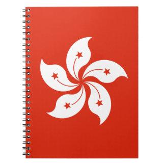 Niedrige Kosten! Hong Kong-Flagge Spiral Notizblock