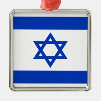 Niedrige Kosten! Israel-Flagge Silbernes Ornament
