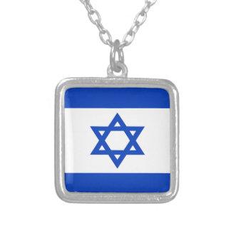 Niedrige Kosten! Israel-Flagge Versilberte Kette