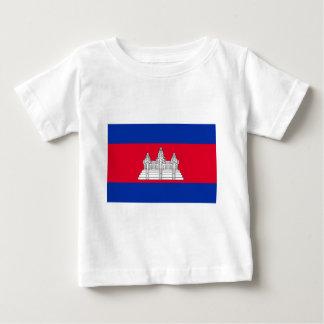 Niedrige Kosten! Kambodscha-Flagge Baby T-shirt