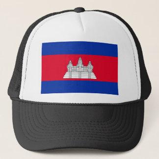 Niedrige Kosten! Kambodscha-Flagge Truckerkappe
