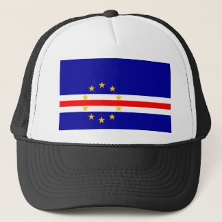 Niedrige Kosten! Kap-Verde Flagge Truckerkappe