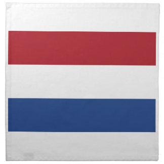 Niedrige Kosten! Karibische niederländische Flagge Stoffserviette